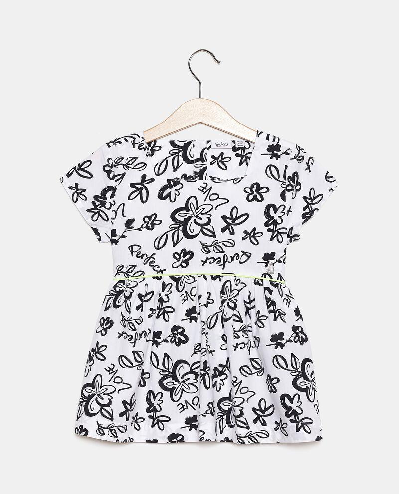 Camicia in popeline cotone stampato bambina