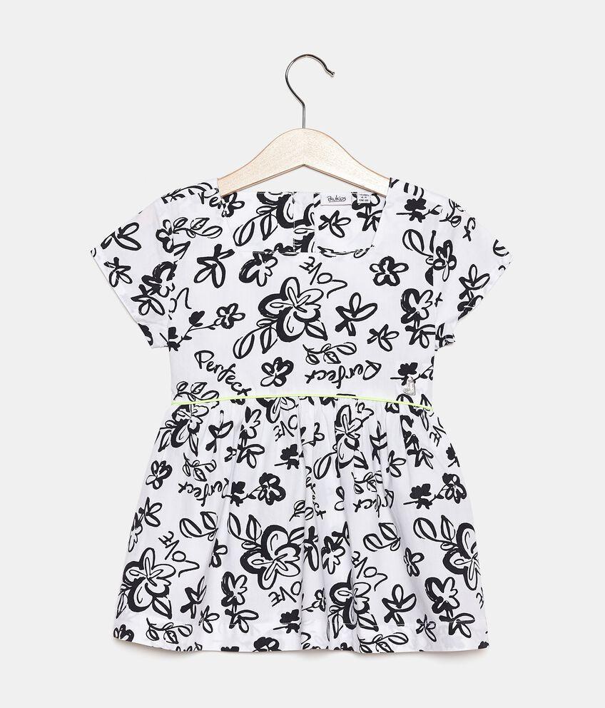 Camicia in popeline cotone stampato bambina double 1