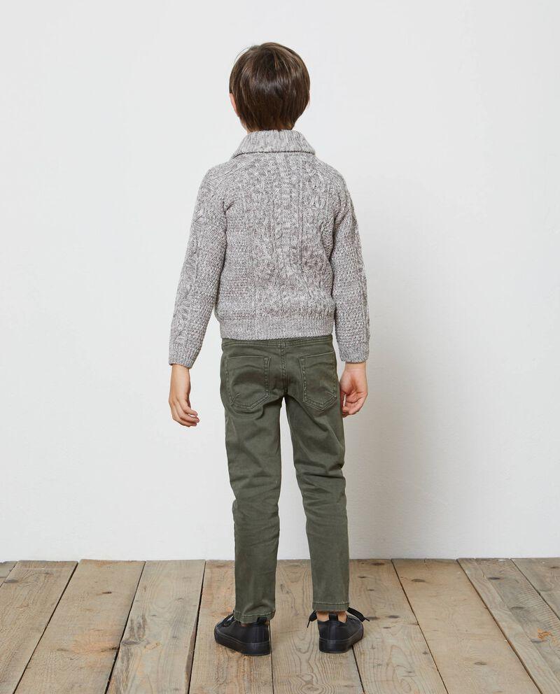 Cardigan mélange lavorato tricot