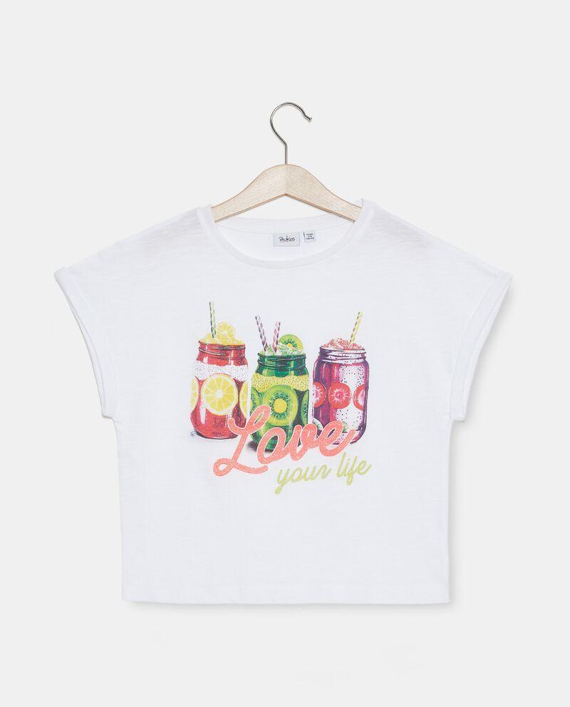 T-shirt malfilé in cotone organico ragazzadouble bordered 0