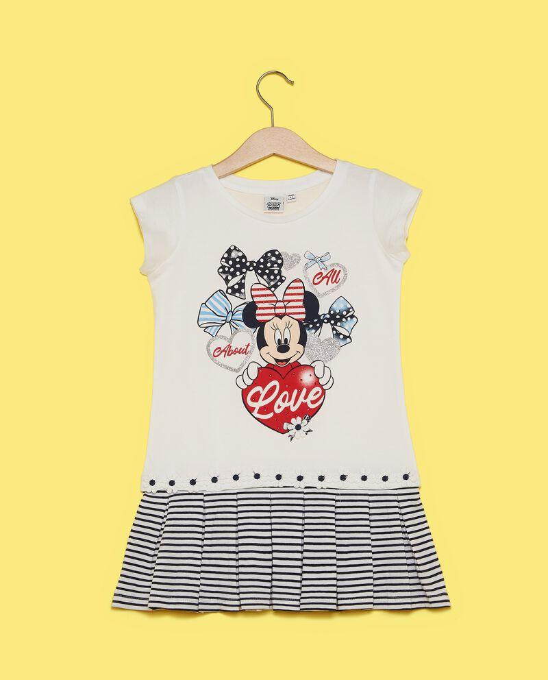 Vestito Minnie con motivo a righe bambina