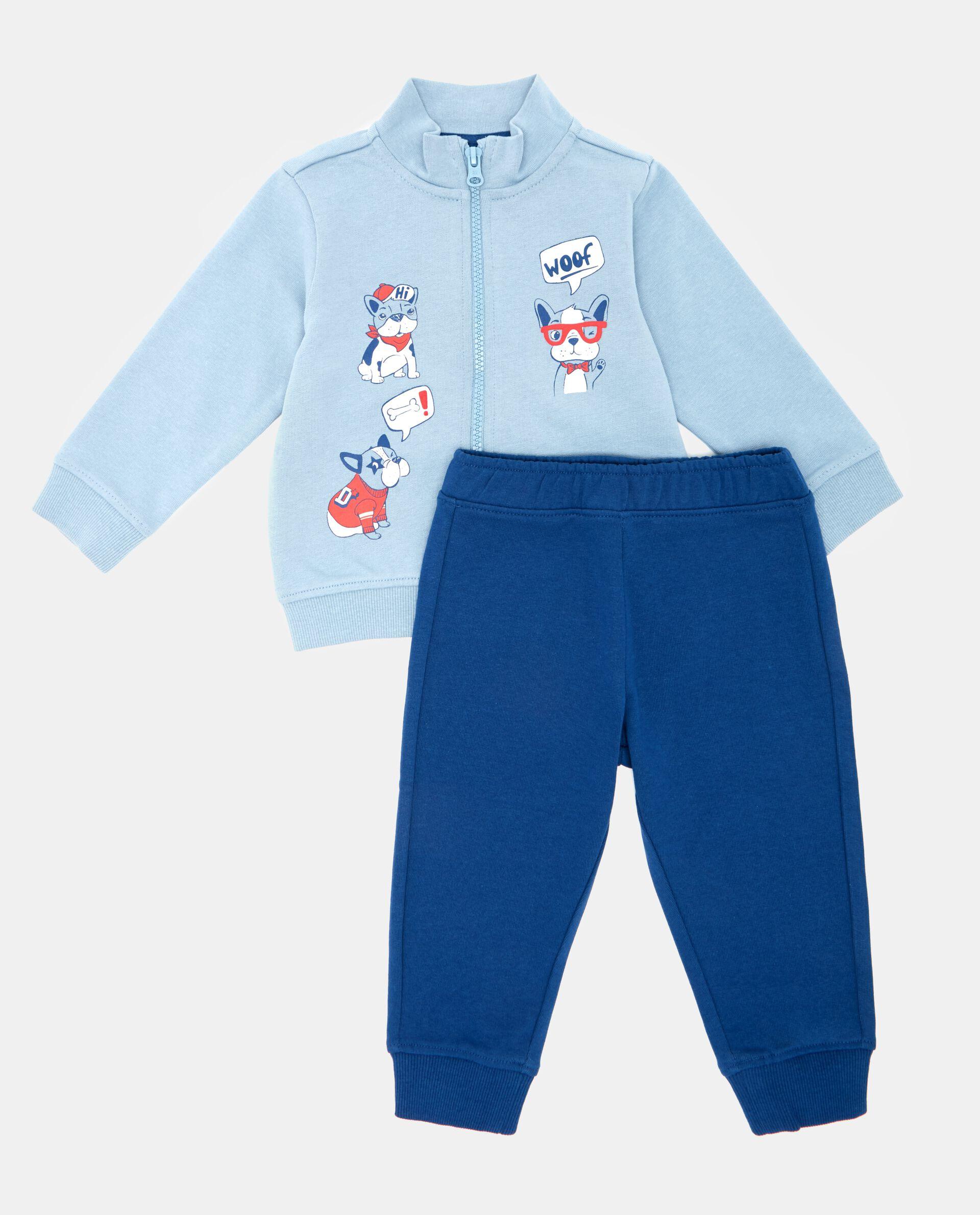 Set felpa disegni e pantaloni neonato