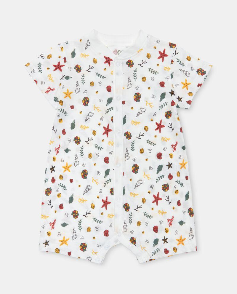 Tutina stampata in jersey cotone organico neonato cover