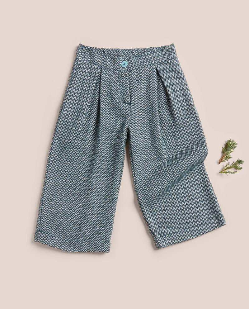 Pantalone spinato in tweed misto lana cover