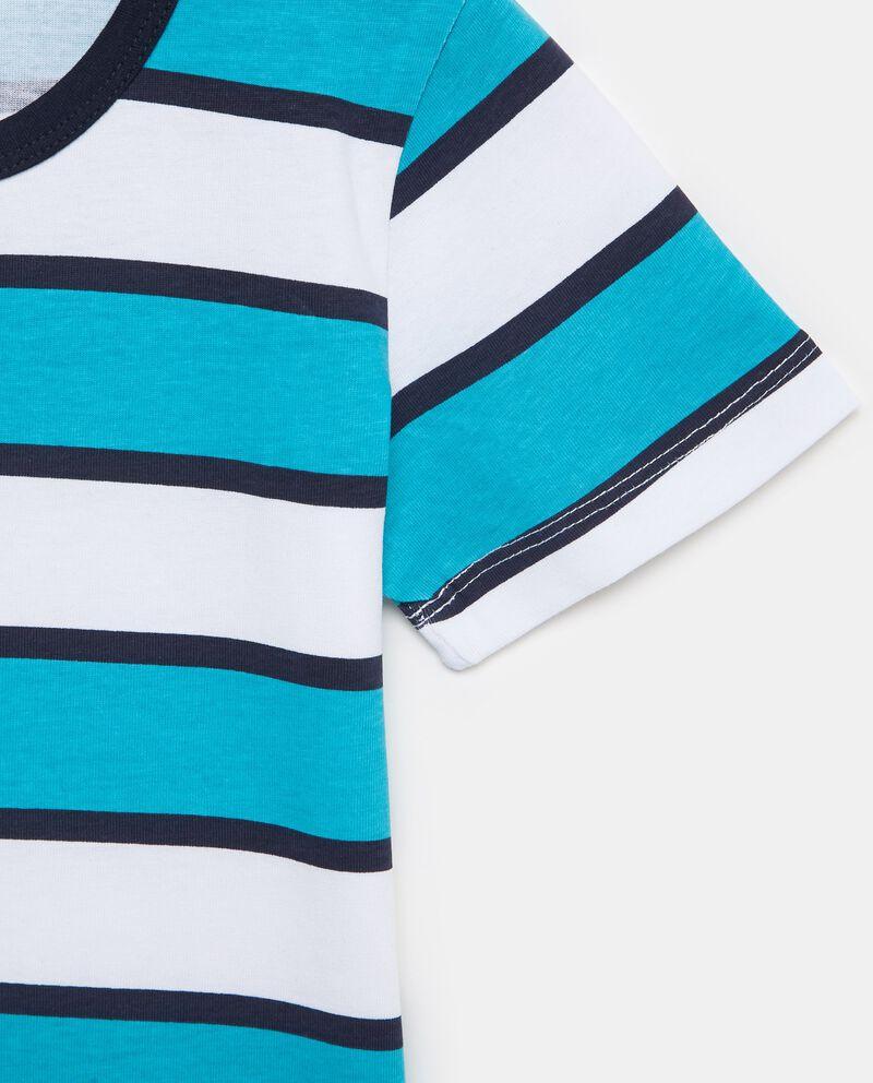 T-shirt in puro cotone con motivo a righe ampie bambino