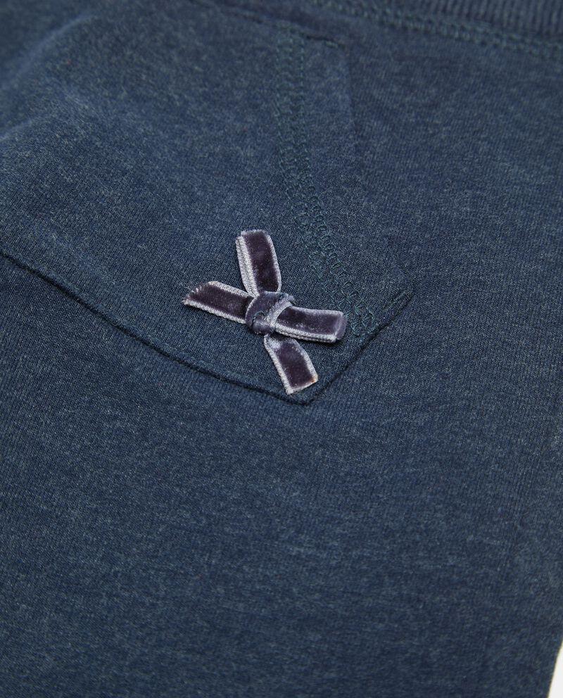 Pantaloni con tasca in cotone organico neonata single tile 1