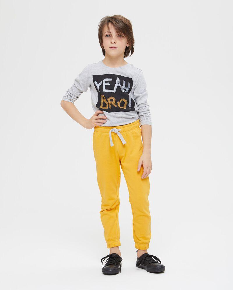 T-shirt maniche lunghe e lettering