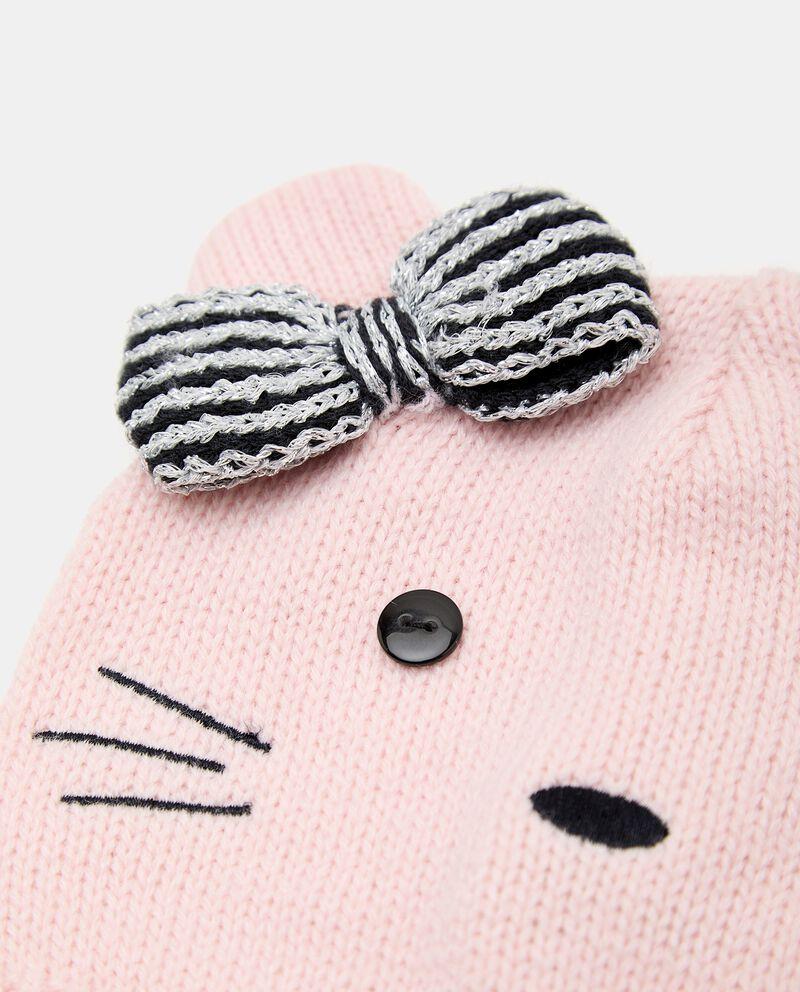 Berretto tricot con fiocco neonata single tile 1