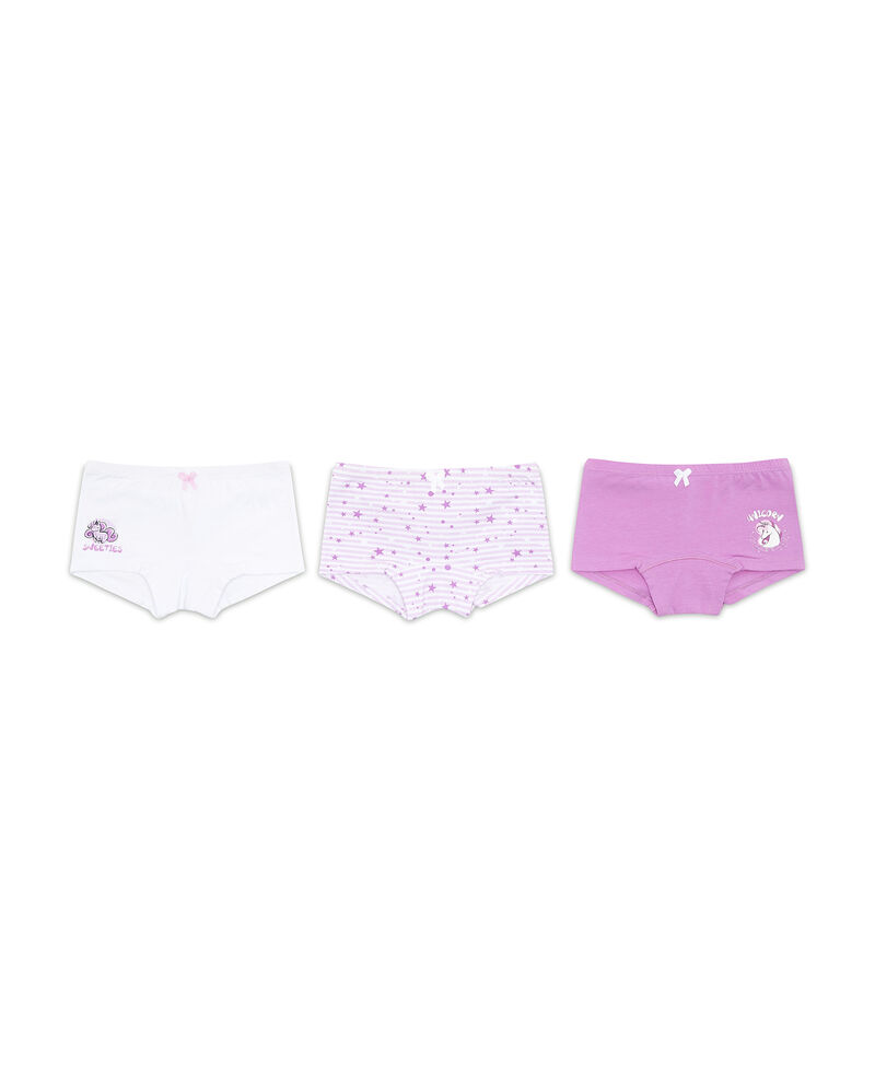 Set tre culotte stretch fantasia e stampa