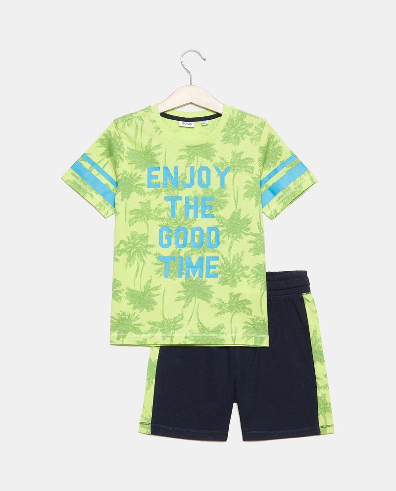 Jogging set in jersey cotone organico stampato bambino