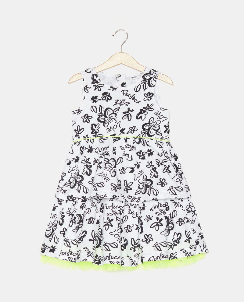 Vestito stampato in popeline bambina