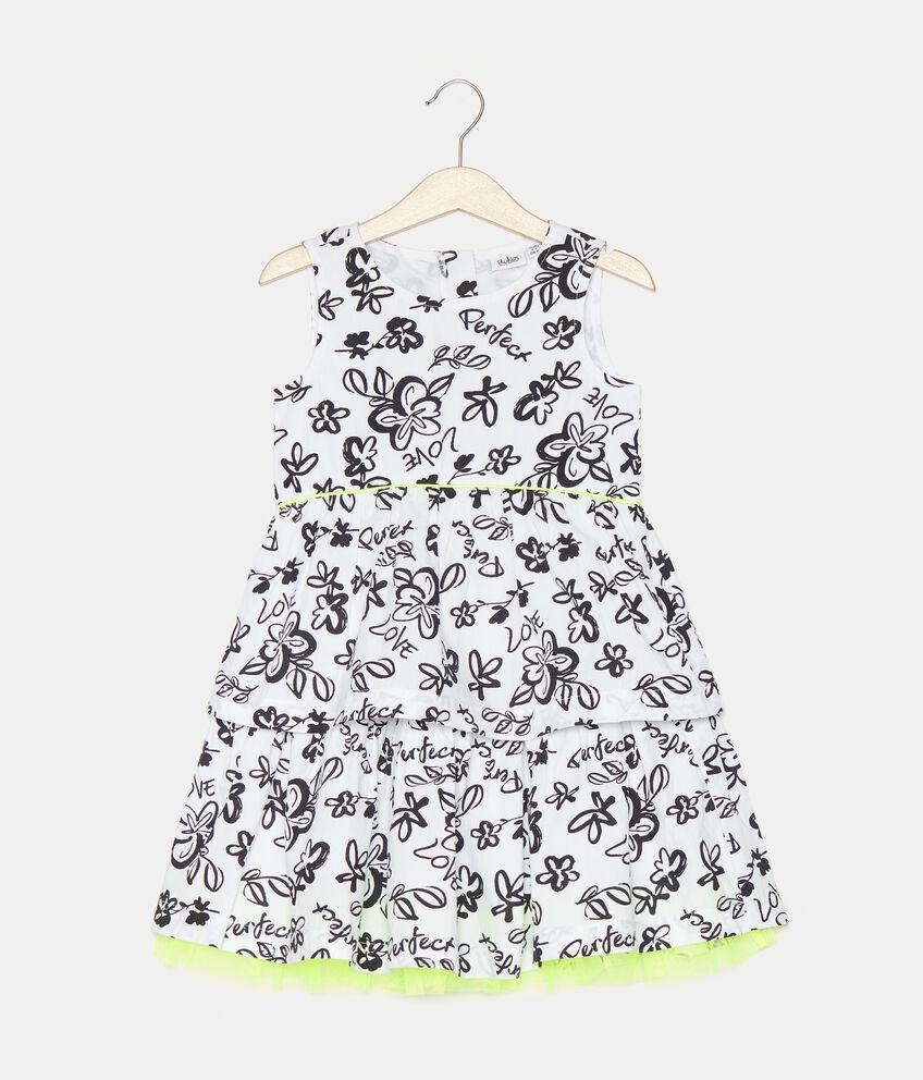 Vestito stampato in popeline bambina double 1