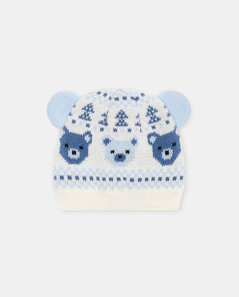 Berretto in maglia con motivo orsetti neonato cover