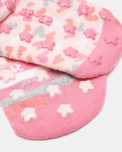 Bipack con 2 paia di calzini in cotone organico bambina detail 1