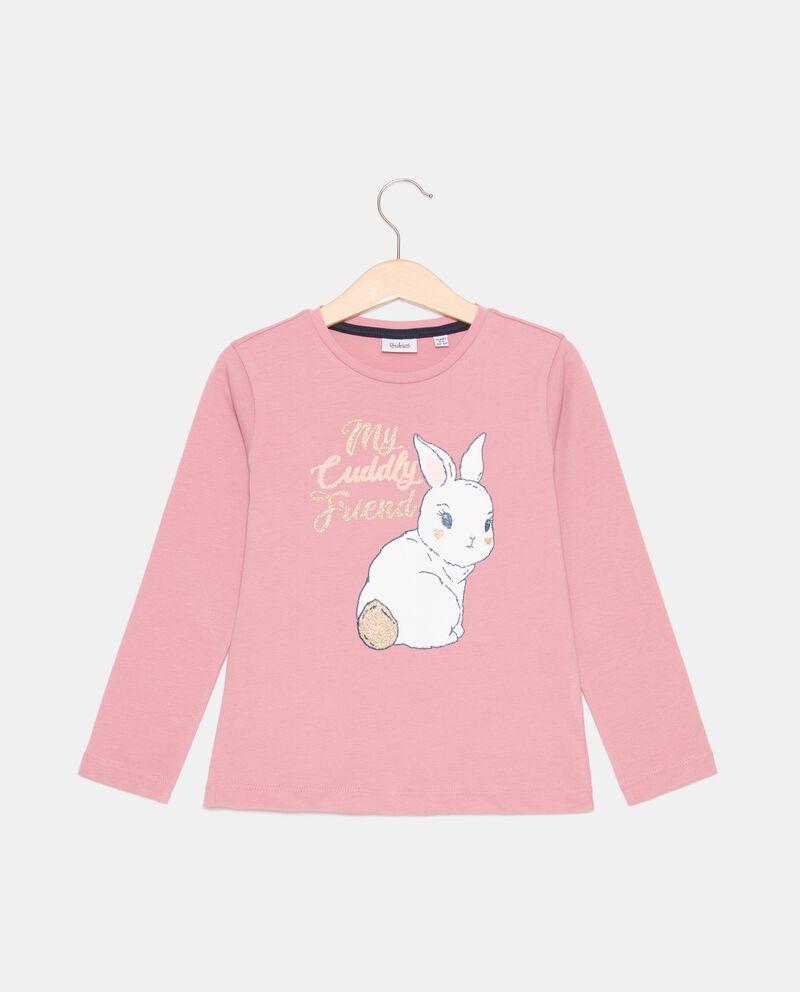 T-shirt di cotone organico stampata bambina cover