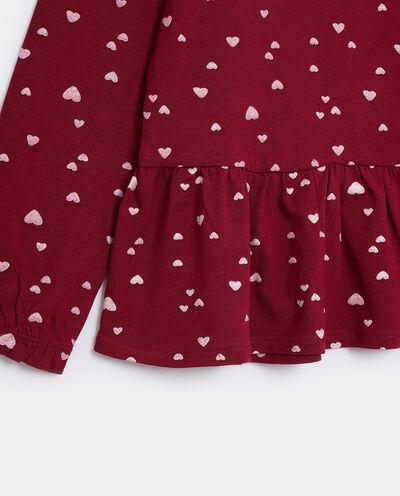T-shirt in jersey stretch di cotone organico bambina detail 1