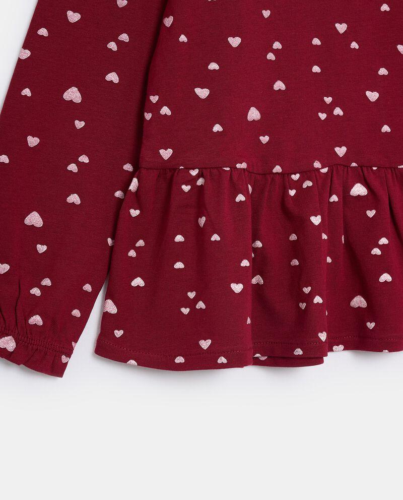 T-shirt in jersey stretch di cotone organico bambina single tile 1