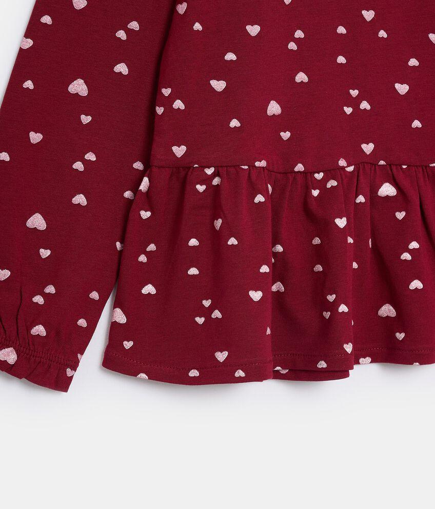 T-shirt in jersey stretch di cotone organico bambina double 2