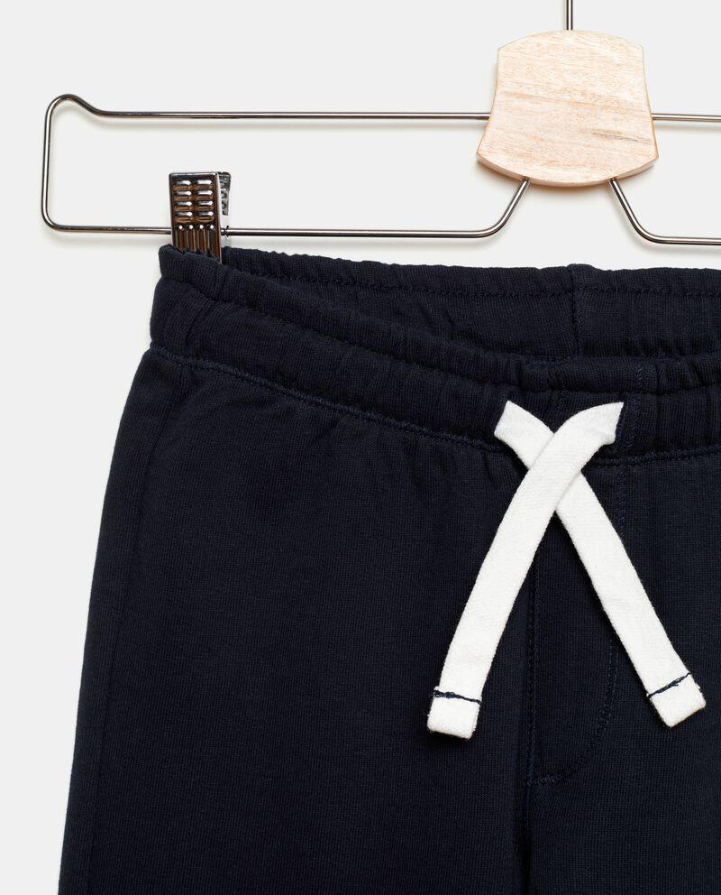 Pantaloni sportivi in puro cotone tinta unita bambino