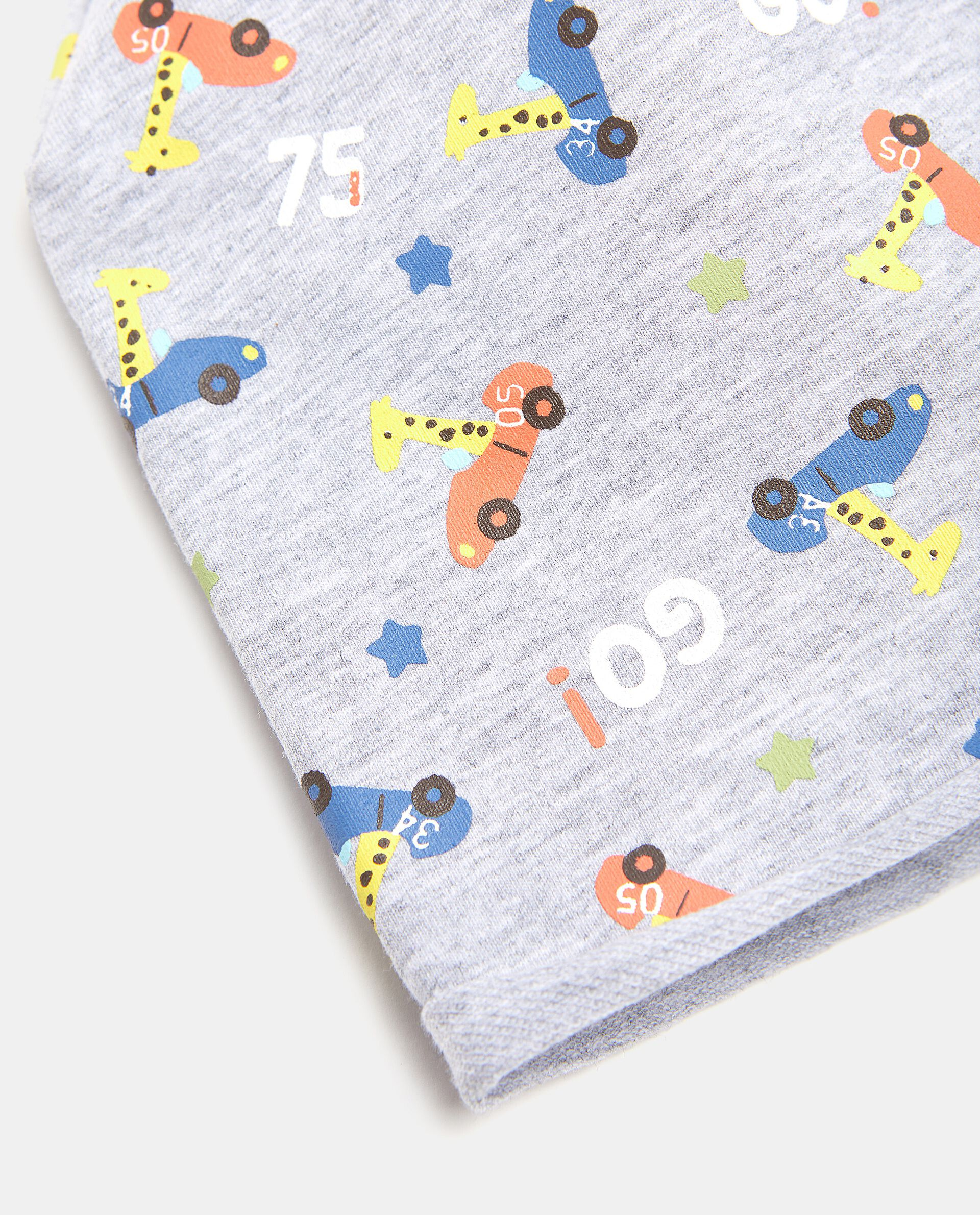 Berrettino con fantasia in cotone elasticato neonato