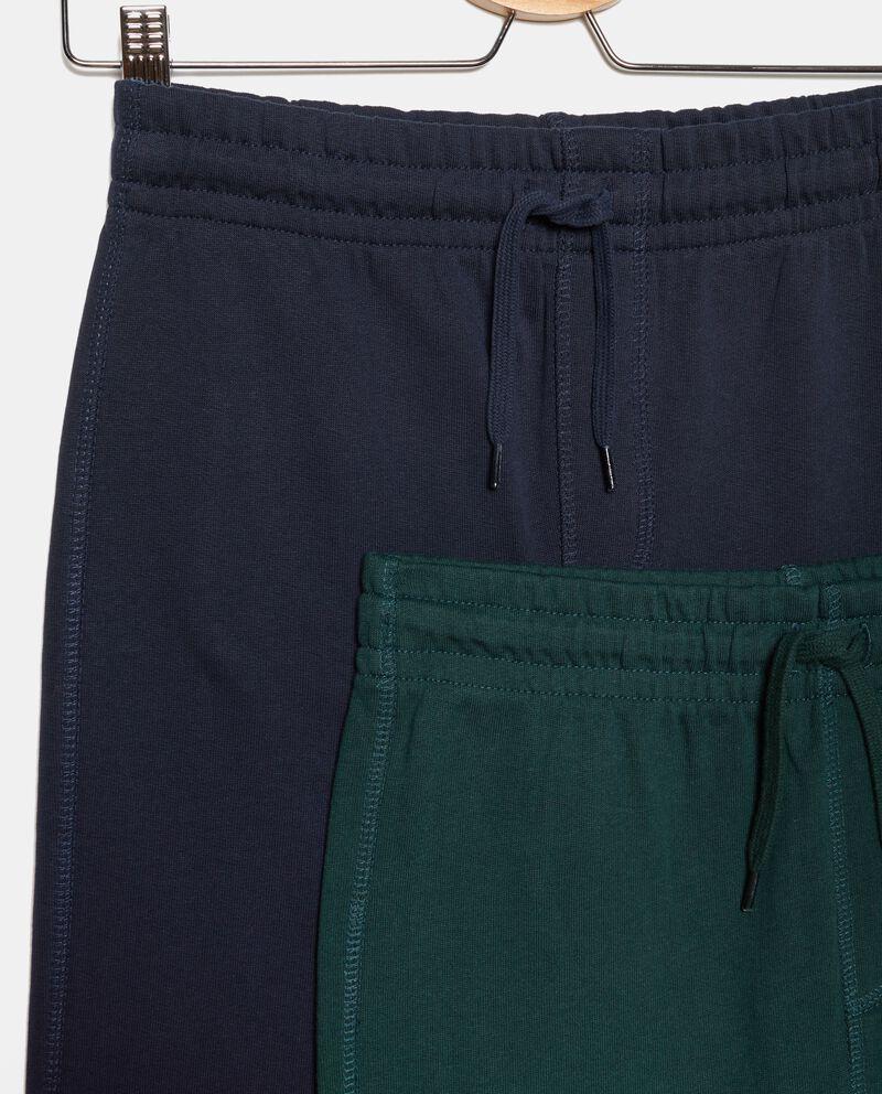 Bipack pantaloni in tinta unita puro cotone ragazzo