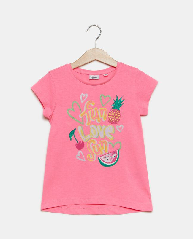 T-shirt con lettering bambina