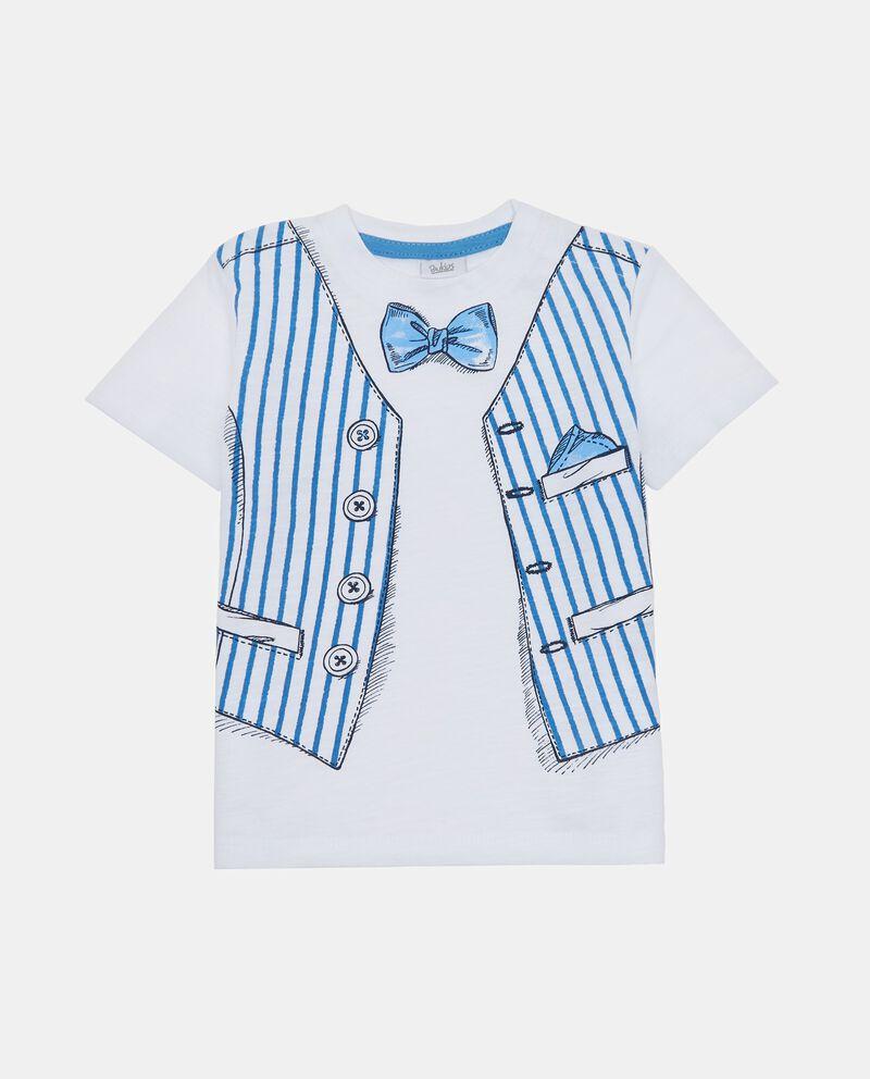T-shirt con stampa fiocchetto e gilet