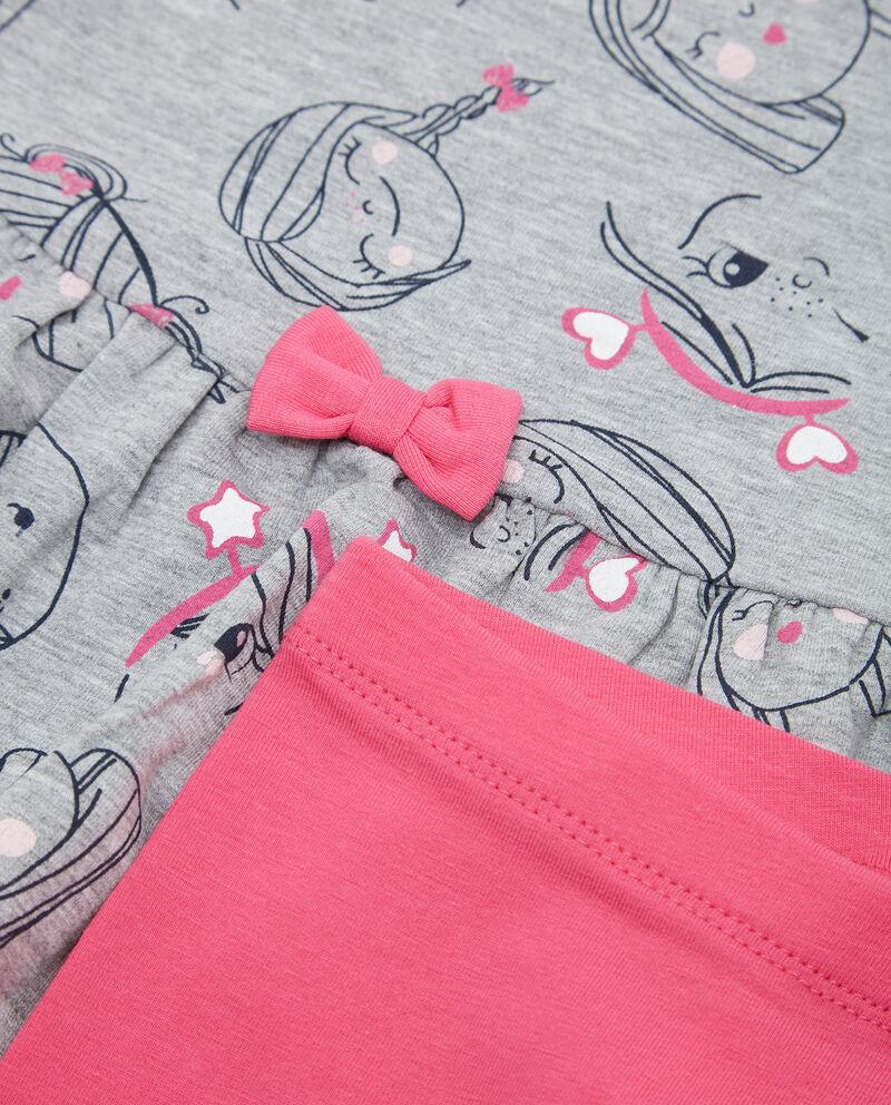 Set t-shirt fantasia e leggings neonata