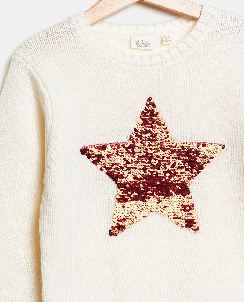 Maglioncino con stella in paillettes bambina single tile 1