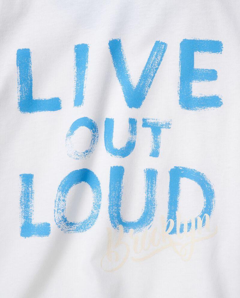 T-shirt in cotone organico jersey con stampa single tile 1
