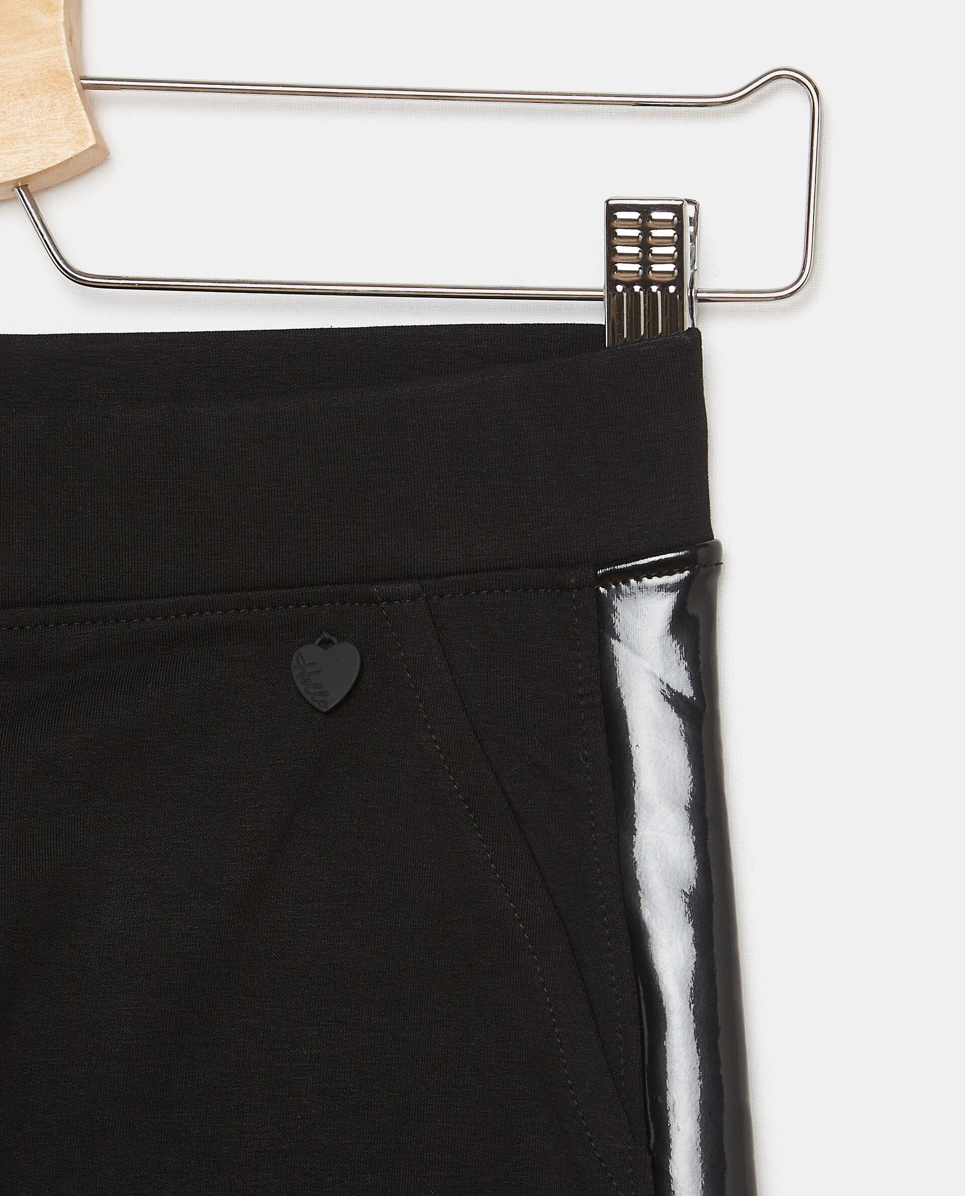 Pantaloni in felpa di cotone con inserti ragazza