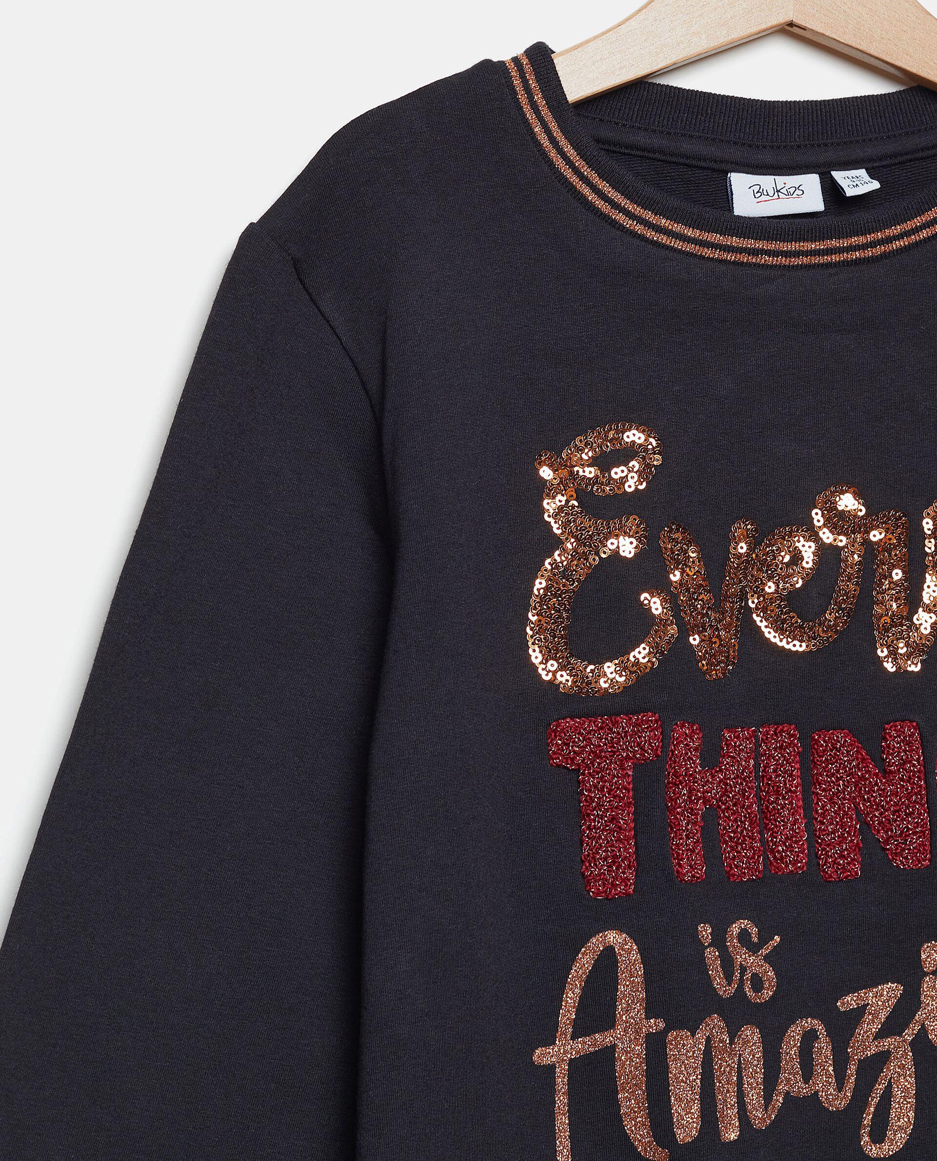 Felpa con lettering in cotone biologico ragazza