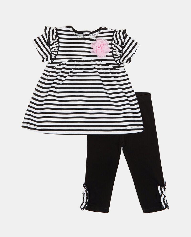 Set con vestito e leggings neonata cover