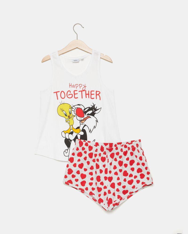Set pigiama con canotta e shorts bambina