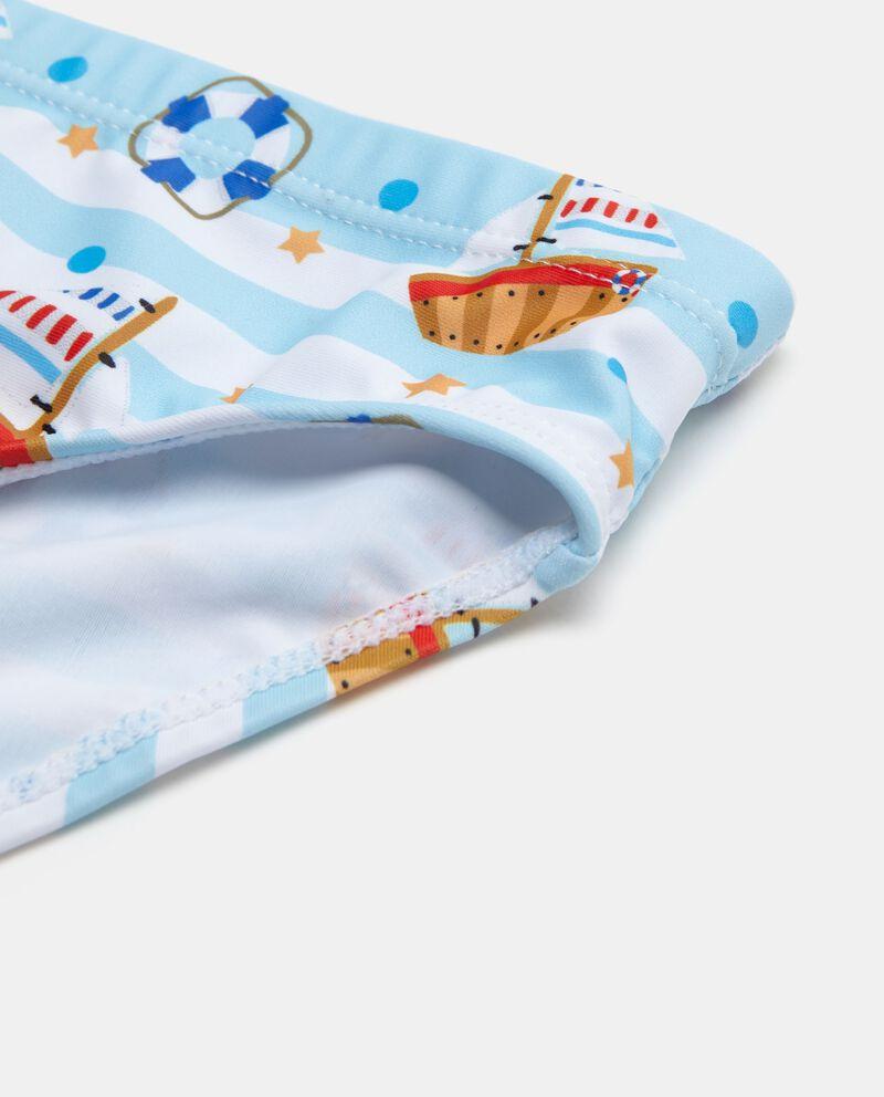 Costume slip con motivo a righe neonato