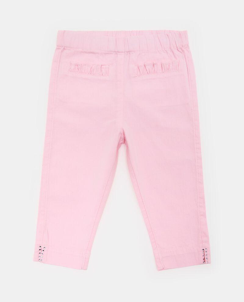 Pantaloni stretch tasche plissettate