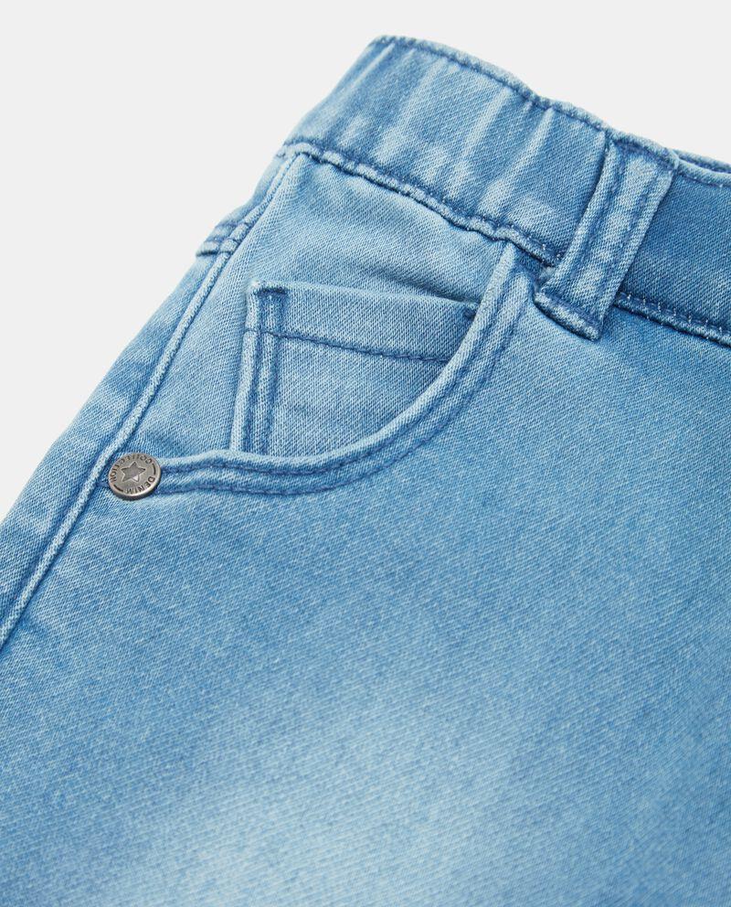 Jeans neonato con risvoltini