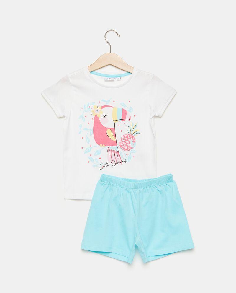 Set pigiama con stampa fenicottero in puro cotone bambina