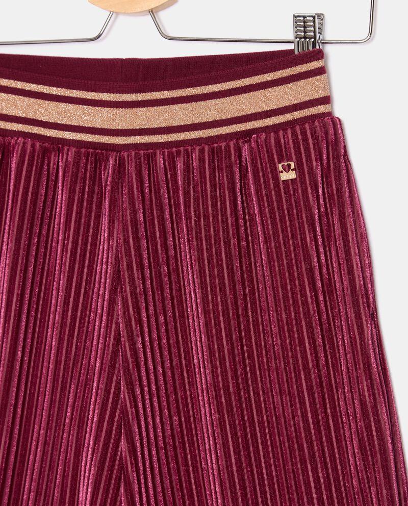 Pantaloni in ciniglia plissettati ragazza single tile 1