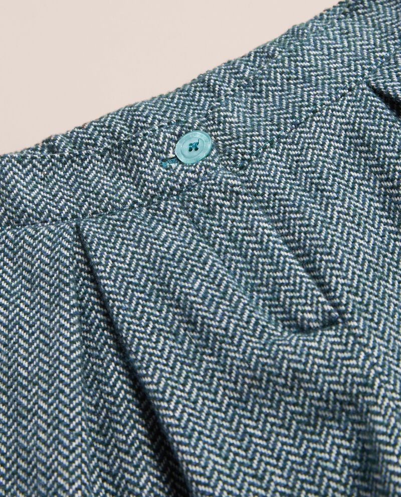 Pantalone spinato in tweed misto lana single tile 1
