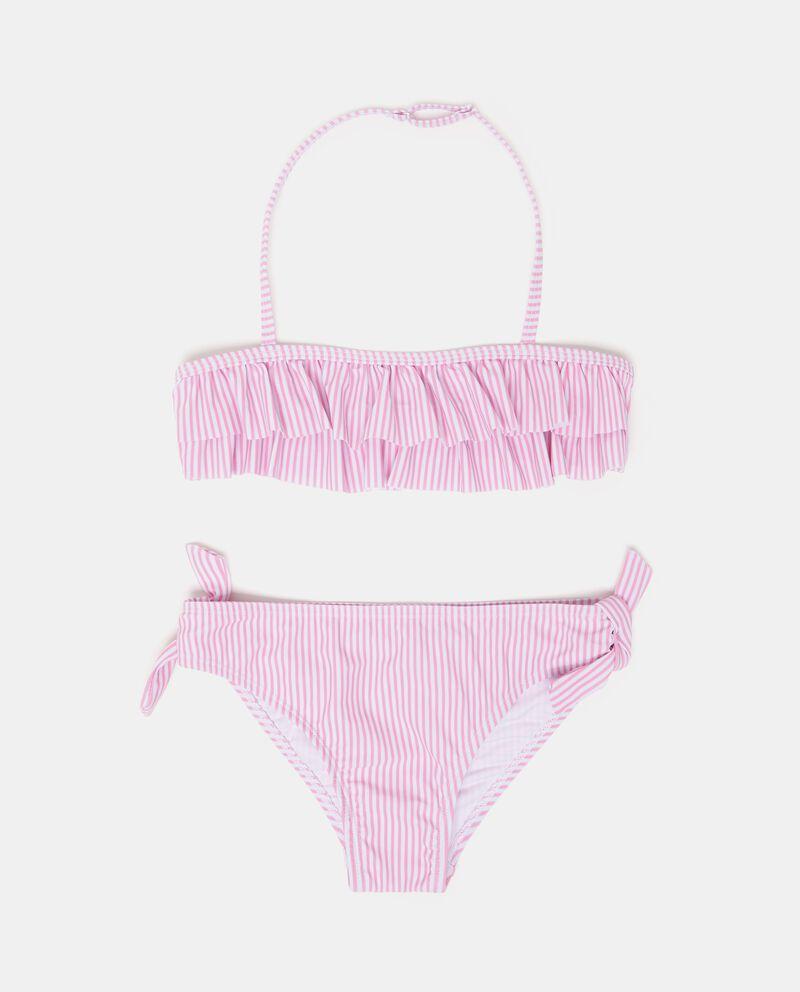 Bikini slip e fascia fantasia a righe