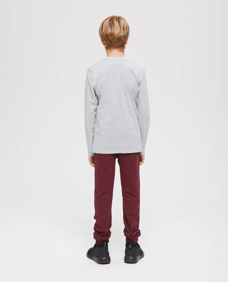 T-shirt cotone mélange stampata