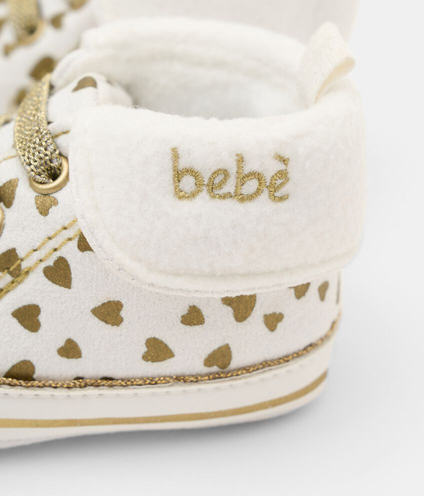 Scarpine con stampa glitter neonata double 2
