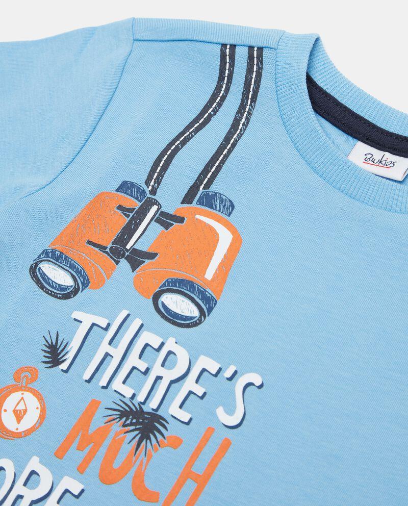 T-shirt in cotone organico con stampa neonato single tile 1