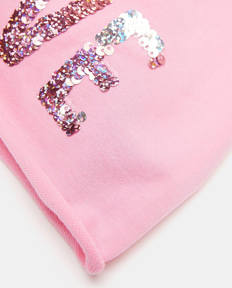 Berretto in cotone elastico con paillettes