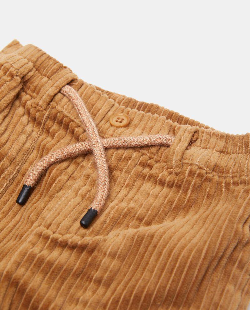 Pantaloni a righine effetto velluto puro cotone biologico neonato