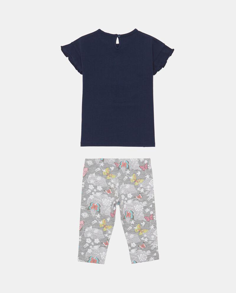 Completo t-shirt e shorts a motivo floreale co