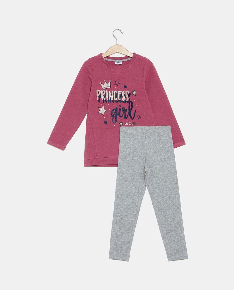 Set jogging felpa e leggings bambina