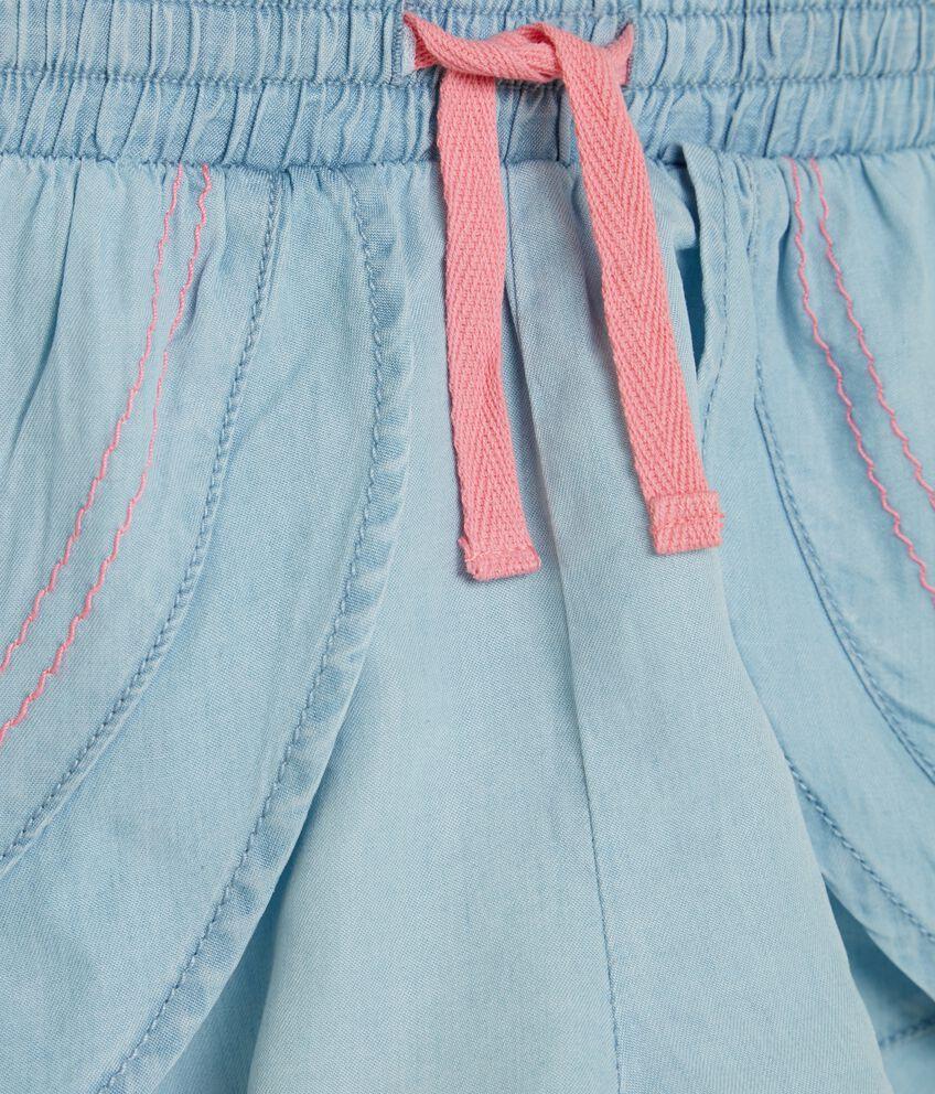 Shorts effetto denim bambina