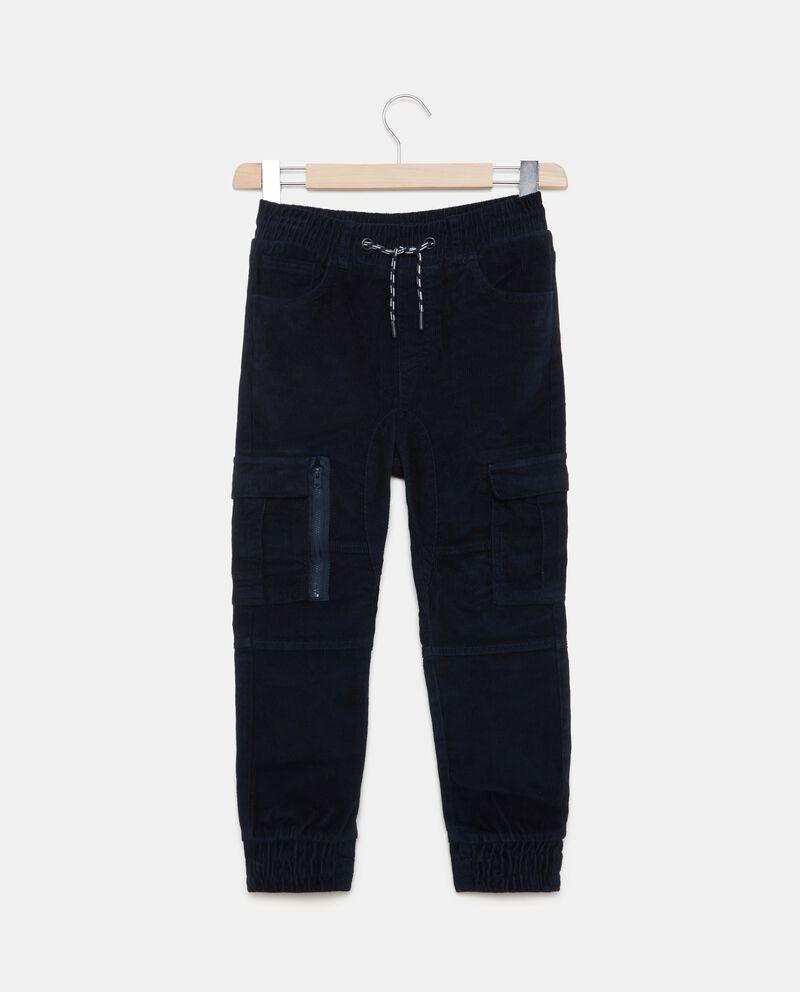Pantaloni cargo effetto velluto ragazzo